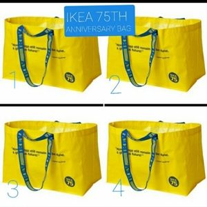 IKEA 75th anniversary yellow shopping bag set 4